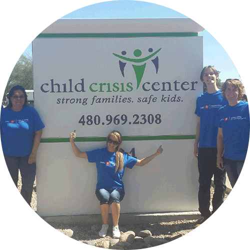 Children's Crisis Center sign